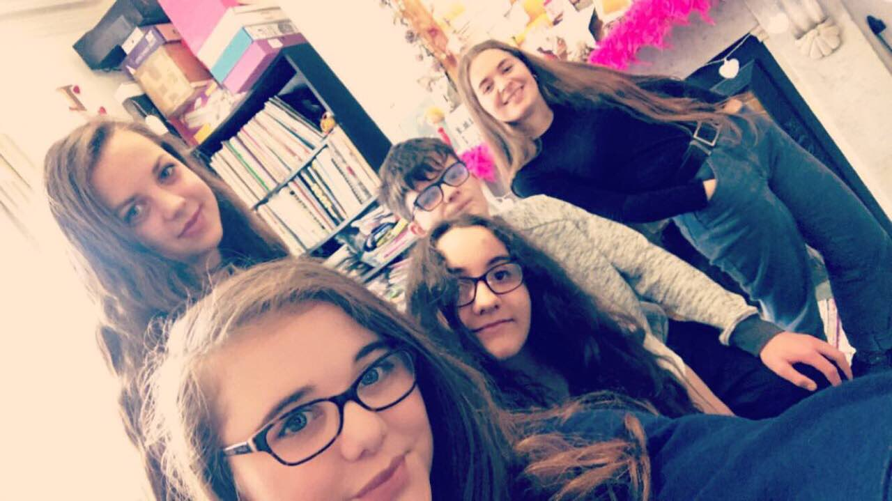 Bethan, Lexie, Charlotte, Callum & Chloe gearing up for GCSE Music revision class
