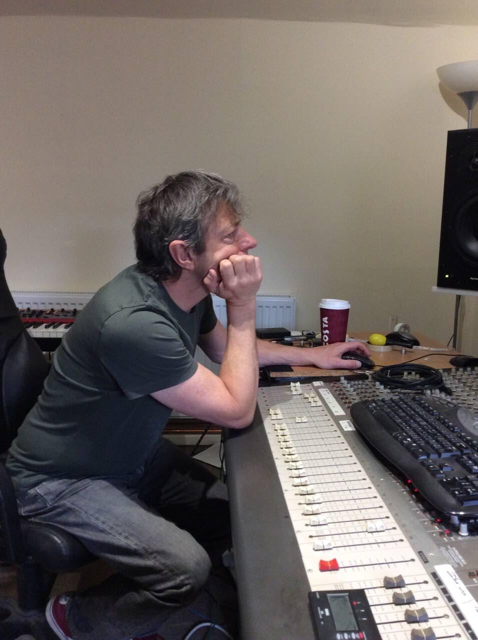 Chris Bucknall recording GCSE