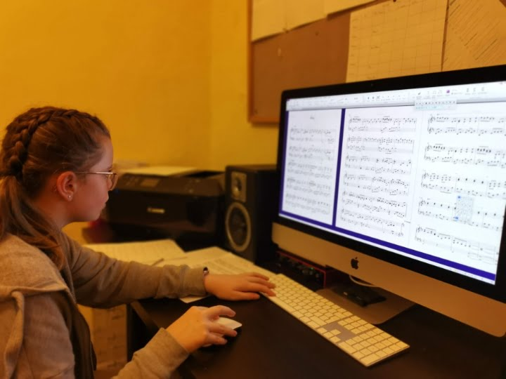 Ruby learning sibelius at julie donalds music school nottingham
