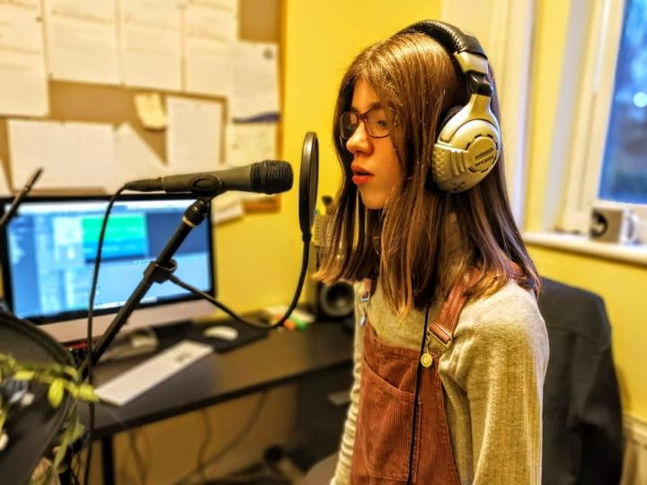 cara recording at julie donalds music school